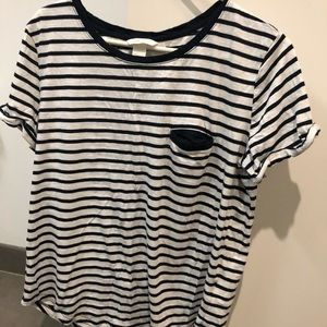 Plain striped blue and white tshirt